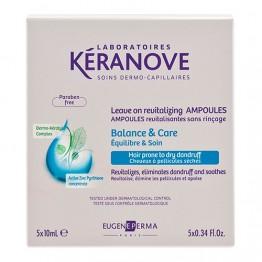 Keranove - ампули против пърхот за коса със суха себорея - 5 x 10 ml