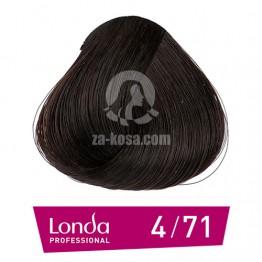 Londacolor 4/71 - Средно кестеняво кафяво пепелно - 60 ml