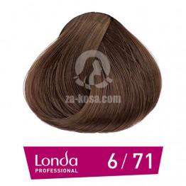 Londacolor 6/71 - Тъмно русо кафяво пепелно - 60 ml