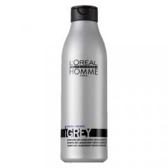 Home Gray - Матиращ шампоан за мъже с бели коси - 250 ml