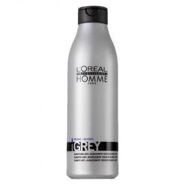Homme Gray - Матиращ шампоан за мъже с бели коси - 250 ml