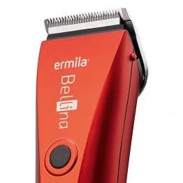 Машинка за подстригване Ermila Bellina velvet-red с кабел и акумулатор