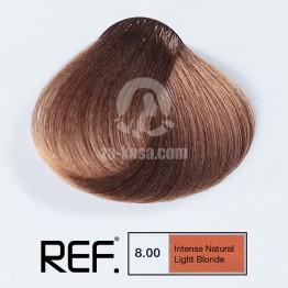 REF Colour 8.00 - Интензивно натурално светло русо - 100 ml