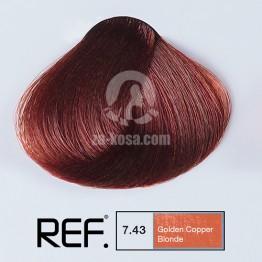 REF Colour 7.43 - Златно медно русо - 100 ml