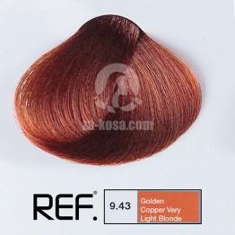 REF Colour 9.43 - Златно медно много светло русо - 100 ml