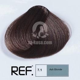 REF Colour 7.1 - Пепелно русо - 100 ml