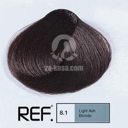 REF Colour 8.1 - Светло пепелно русо - 100 ml