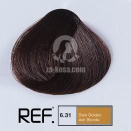 REF Colour 6.31 - Тъмно златно пепелно русо - 100 ml