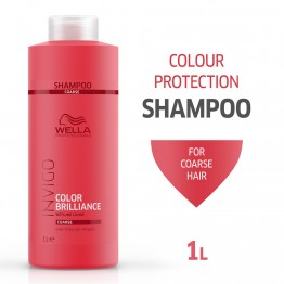 Шампоан за блясък на боядисана гъста коса - Invigo Brilliance - 1000ml