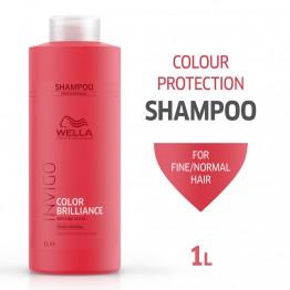 Шампоан за блясък на боядисана фина коса - Invigo Brilliance - 1000ml